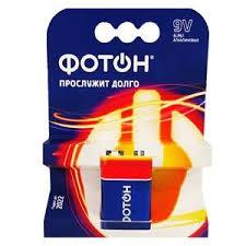 Купить Батарейки <b>крона</b> «<b>Фотон</b>» - 6LR61, 1 шт., цена 143.00 в ...