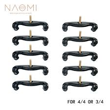 <b>NAOMI 10PCS</b> Violin Shoulder Rest Feet <b>For</b> 3/<b>4 4</b>/<b>4</b> Black Violin ...
