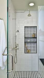golden bathroom shower column faucet wall: see the full remodel before amp after this vintage inspired master bathroom is shower faucet ideasshower nicheswall