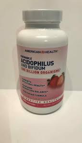 <b>CHEWABLE ACIDOPHILUS AND BIFIDUM</b> ONE BILLION ...