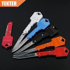 TEKTER Survival <b>Pocket Knife</b> Key <b>Portable Outdoor</b> Camping ...