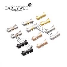 <b>CARLYWET</b> 14 16 18 <b>20 22mm</b> 2mm Tang Tongue Silver Black ...