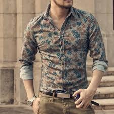 <b>New Fashion</b> Casual Men Shirt <b>Long</b> Sleeve Europe Style Slim Fit ...