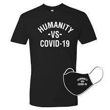Humanity VS Covid-19 <b>Unisex T</b>-<b>Shirt</b> Face <b>Mask</b> Combo | Long ...