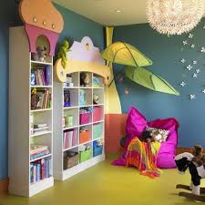 decorating ideas wall art decor: funny wall art decoration and white wall storage in preschool and kindergarten classroom decorating design ideas