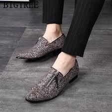 <b>glitter</b> coiffeur <b>loafers</b> men dress <b>shoes</b> wedding <b>shoes</b> men 2019 ...