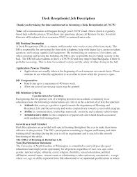 front desk medical receptionist job description  seangarrette co   sample resume for front office receptionist   front desk medical receptionist job description