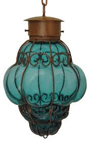 reyna large wrought iron and blown glass lamp artisan blown glass lamps