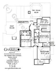 Garden View Cottage House Plan   House Plans by Garrell Associates        garden view cottage house plan   nd floor plan