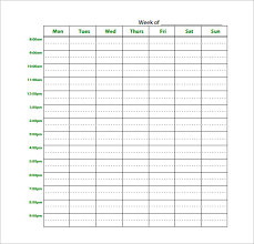 study schedule template –   free word  excel  pdf format download    download blank weekly study schedule planner pdf download