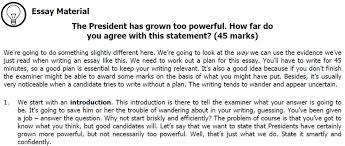essay plan  the president has grown too powerful  how far do you    essay plan