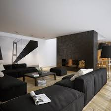 black and white living room design ideas with cool art wall murals and black fabric lounge black white living room furniture