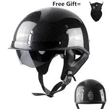 <b>German Pure Carbon Fiber</b> half face motorcycle helmet DOT ...