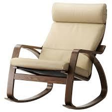 POÄNG <b>Rocking</b>-<b>chair</b> - <b>brown</b>/Glose eggshell - IKEA