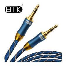 EMK <b>3.5 mm</b> Gold-Plated Male to Male <b>Aux</b> Headphone Audio ...