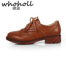 <b>WHOHOLL Oxford Shoes For</b> Woman British Style Women Girl ...
