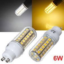 <b>GU10 LED Bulb</b> 6W 48 SMD 5050 AC <b>220V</b> White/Warm White Corn ...