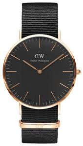 <b>Наручные часы</b> Daniel Wellington Classic Black Cornwall Rose <b>Gold</b>