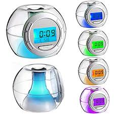 Aibote <b>New</b> Digital Clock <b>Nature Sound 7</b> Colors Changing Night ...