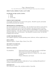 resume format for work  seangarrette coresume