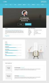 best html resume templates for awesome personal sites i m rex material html resume cv website template