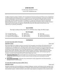 customer service resume  skills  objectives   templatesaccounting associate