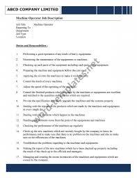 job description archives ms word templates machine operator