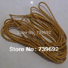 2mlot special old antique style2075mm 2 core twisted 1m of brown fabric lighting