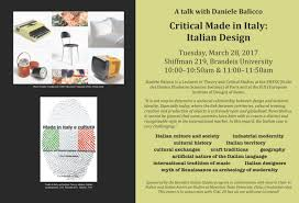 italian studies iim department of r ce studies brandeis image of poster for critical made in