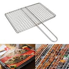 WowObjects <b>1Pc Outdoor</b> Picnic BBQ Fish Meat Grill Stainless Steel ...