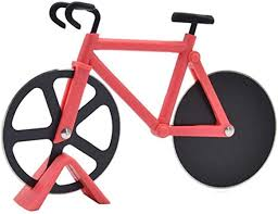Culer <b>Bicycle Pizza Cutter</b> Stainless Steel Pizza <b>Knife</b> Two Wheel ...