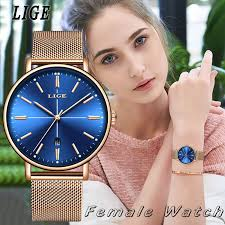 <b>2019</b> Women Simple Casual Watches <b>LIGE Fashion</b> Analog ...