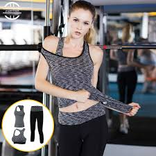 3pcs Brand <b>Yoga</b> Set <b>Women Sports Suits</b> Tights Fitness Gym Train ...
