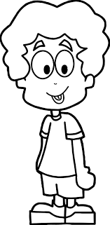 Small Picture Cartoon Boy Coloring Page Wecoloringpage
