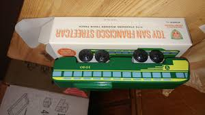 Toy PCC Streetcar for <b>Kids</b>' <b>Wooden Train</b> Sets | Market Street Railway