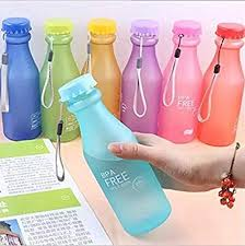 Doyime <b>1pc</b> 550 ml Not Easy Breaking <b>Frosted</b> Bottle With Cover ...