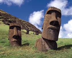 Image result for photos of easter island statues