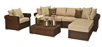 furniture impressive brown rattan patio furniture wicker design with rectangle coffee table design and espresso leather charming outdoor furniture design
