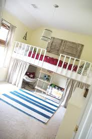 double loft bed rope ladder diy kids bunk beds toddlers diy
