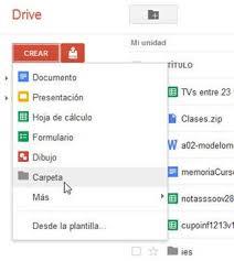 Resultado de imagen para uso de google drive para almacenar en la nube