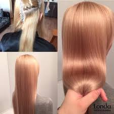 koktél szín szőke előre fehérített haj <b>Londa Professional</b> edző Nikita ...