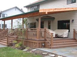 wood deck patio cover