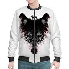Бомберы мужские с символикой волк - <b>Printio</b>