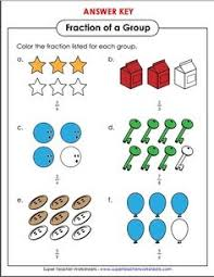 1000+ images about Math - Super Teacher Worksheets on Pinterest ...This worksheet is excellent for students learning about basic fractions. Students color in the number of objects that correctly represents the given ...
