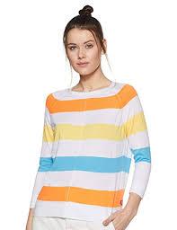 Buy <b>Levi's Women's Striped</b> Regular fit T-Shirt at Amazon.in