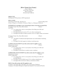 first resume for student template first resume for student