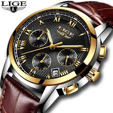 LIGE <b>Fashion Watch Men</b> Sport Waterproof Date Analogue Quartz ...