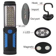 USB Rechargeable Lamp 36+ 5 <b>LED Flashlight Outdoor Camping</b> ...