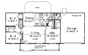 Ryland Ranch Home Plan D    House Plans and MoreRanch House Plan First Floor   D    House Plans and More