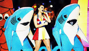 The Girl On Fire And Her Ill-Fated Left Shark: The Halftime Show ... via Relatably.com